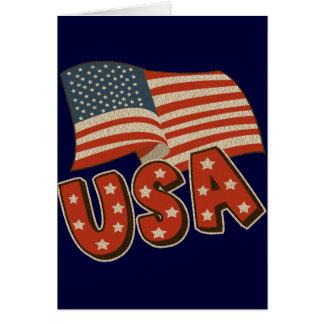 Vintage America Flag Greeting Card