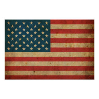 Vintage America Flag Poster