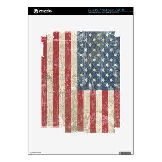 Vintage America Flag Skins For iPad 3