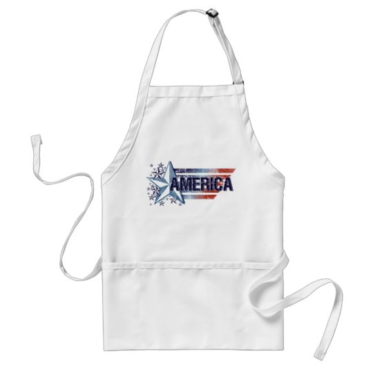 Vintage America Flag with Star – Memorial Day Adult Apron