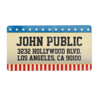 Vintage America Grunge Stars and Stripes Label