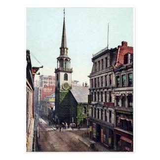 Vintage America, Old South Church Boston c1900 Postcard