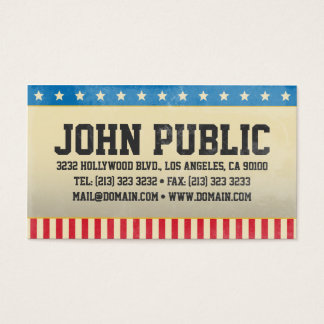 Vintage America Stars and Stripes Business Card