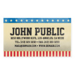Vintage America Stars and Stripes Double-Sided Standard Business Cards (Pack Of 100)