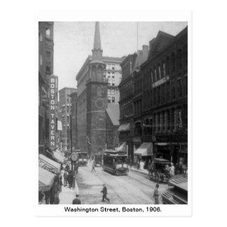 Vintage America, Washington Street, Boston 1906 Postcard