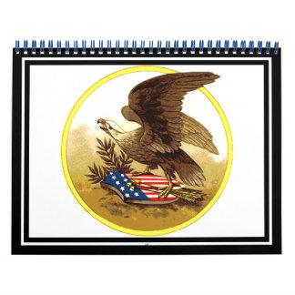 Vintage American Bald Eagle Calendar