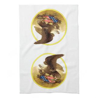Vintage American Bald Eagle Towel