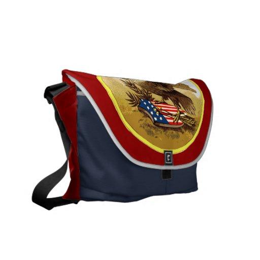 Vintage American Bald Eagle w/Shield Commuter Bag