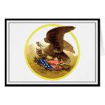 Vintage American Bald Eagle w/Shield Greeting Card