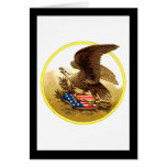 Vintage American Bald Eagle w/Shield Greeting Card