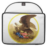 Vintage American Bald Eagle w/Shield Sleeve For MacBook Pro