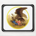 Vintage American Bald Eagle w/Shield Mouse Pads