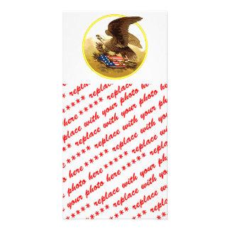 Vintage American Bald Eagle w/Shield Photo Card