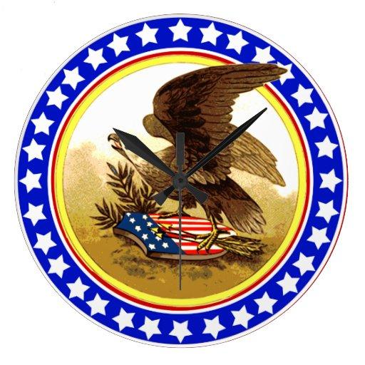 Vintage American Bald Eagle Wall Clock