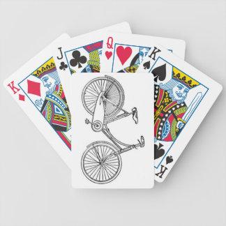 Vintage American Bicycle Diagram Bicycle Playing Cards