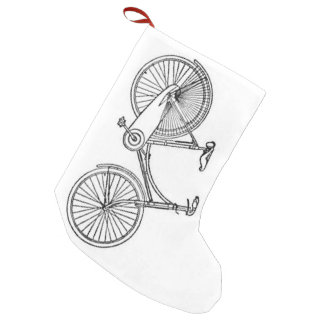 Vintage American Bicycle Diagram Small Christmas Stocking