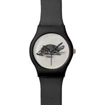 Vintage American Box Tortoise - Turtle Template Wrist Watch