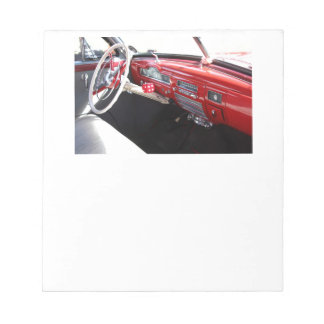 Vintage American car interior classic 1950s cars Note Pads