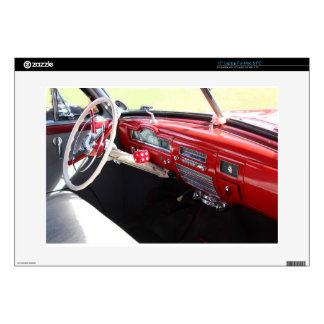 """Vintage American car interior classic 1950s cars Decals For 15"""" Laptops"""