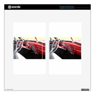 Vintage American car interior classic 1950s cars Skins For Kindle Fire