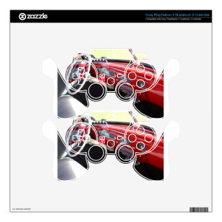 Vintage American car interior classic 1950s cars Skin For PS3 Controller