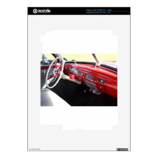 Vintage American car interior classic 1950s cars Decal For The iPad 2