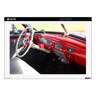 "Vintage American car interior classic 1950s cars 17"" Laptop Decals"