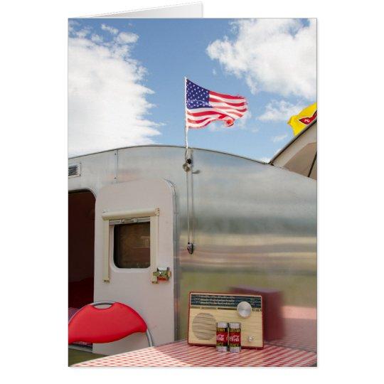 Vintage American Caravan Card