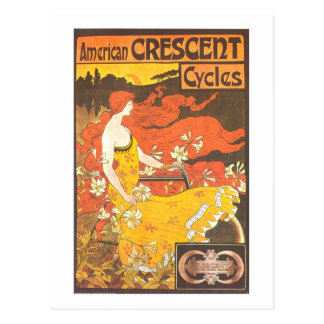 Vintage American Crescent Cycles Ad - GORGEOUS Postcard