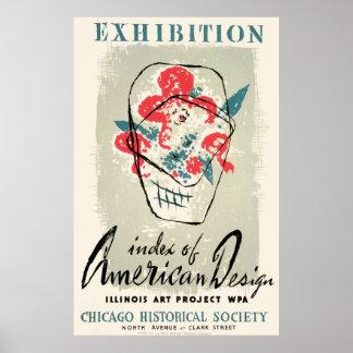 Vintage American Design Chicago WPA Poster