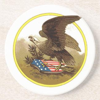 Vintage American Eagle Sandstone Coaster