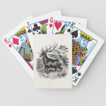 Vintage American Elk Personalized Old Illustration Bicycle Playing Cards