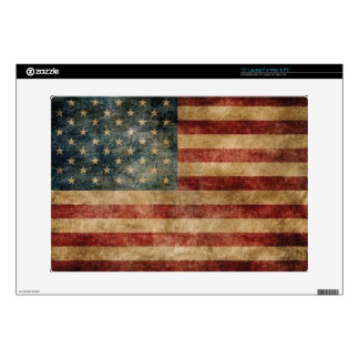 "Vintage American Flag 15"" Laptop Decals"