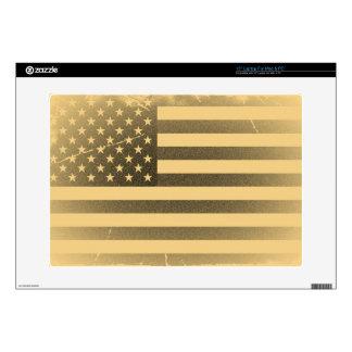 "Vintage American Flag 15"" Laptop Skins"