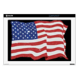 Vintage American Flag 17 Inch Laptop Skin