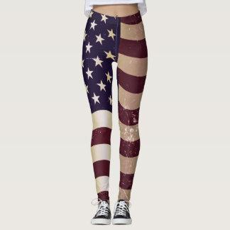 Vintage American Flag #2 Leggings