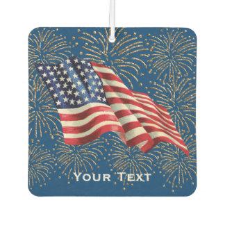 Vintage American Flag 4th of July Fireworks Air Freshener