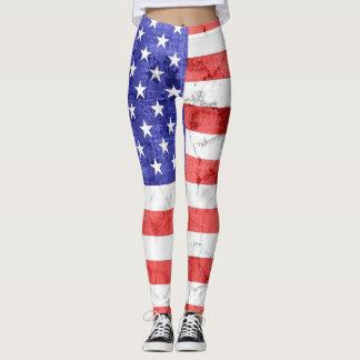 Vintage American Flag #5 Leggings