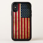 "Vintage American Flag Apple iPhone X Case<br><div class=""desc"">Vintage American Flag OtterBox Symmetry Apple iPhone X Case. You like to drop it like it&#39;s hot... except when it comes to your phone. Luckily, OtterBox cases are here to save the day. Constructed by molding two formidable materials together, Symmetry cases have the strongest protection in the slimmest style. Dual-layer...</div>"