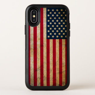 Vintage American Flag Apple iPhone X Case