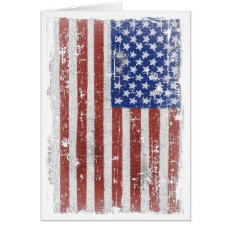 Vintage American Flag Art Card