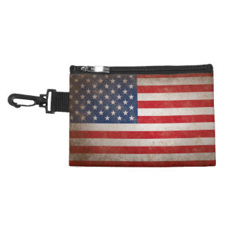 Vintage American Flag Accessory Bags
