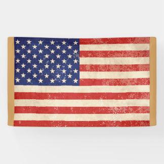 Vintage American Flag Banner