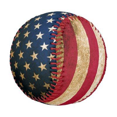 Patriotic Vintage American Flag Baseball  87ffd8ea93c