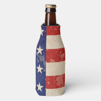 Vintage American Flag Bottle Cooler