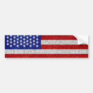 Vintage American Flag Bumper Sticker Car Bumper Sticker