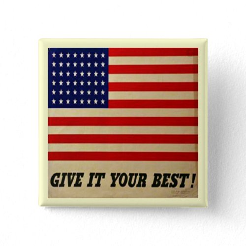Vintage American Flag Button button