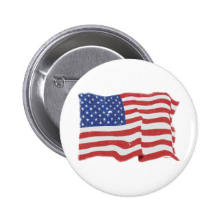 Vintage American Flag Button