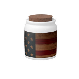 Vintage American Flag Candy Jar