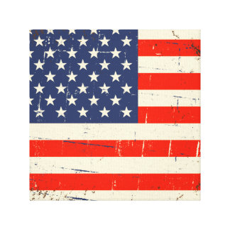 Vintage American Flag Stretched Canvas Prints